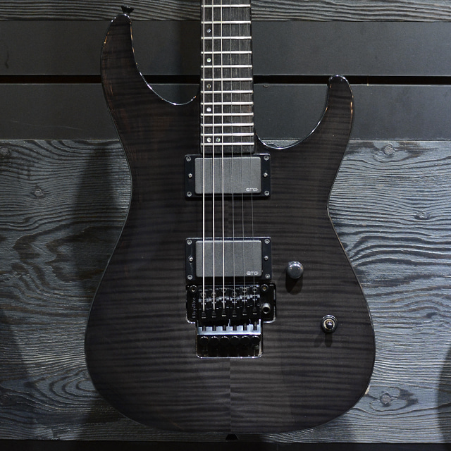 [중고] ESP E-II M-2 FM Flame Maple Top See Thru Black 2015'