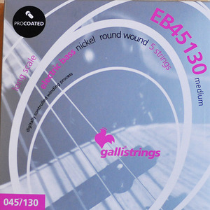 이테리 갈리 베이스 스트링 Galli String - EB45130 PROCOATED Medium - 5 strings