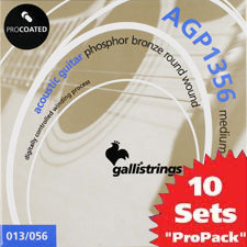 이테리 갈리 어쿠스틱 스트링 Galli String - AGP1356 ProCoated Phosphor Bronze Medium(013-056) 10SET